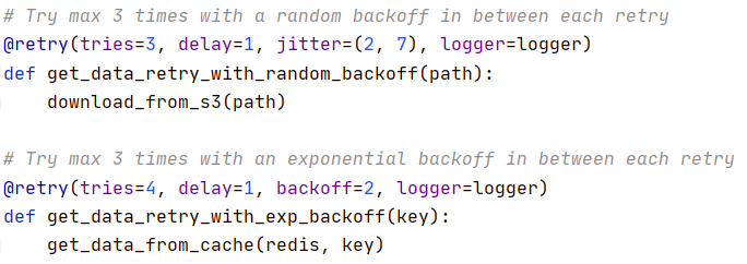retry pattern example using python's retry package